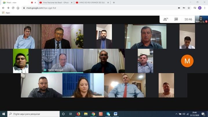 TAQUARUÇU DO SUL REALIZA SESSÃO SOLENE PARA INSTALAÇÃO DA 9ª LEGISLATURA DE FORMA VIRTUAL POR RECOMENDAÇÃO DO MINISTÉRIO PÚBLICO
