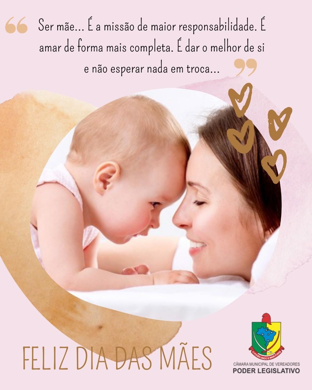 Mensagem da Câmara Municipal de Vereadores de Taquaruçu do Sul ao Dia das Mães!