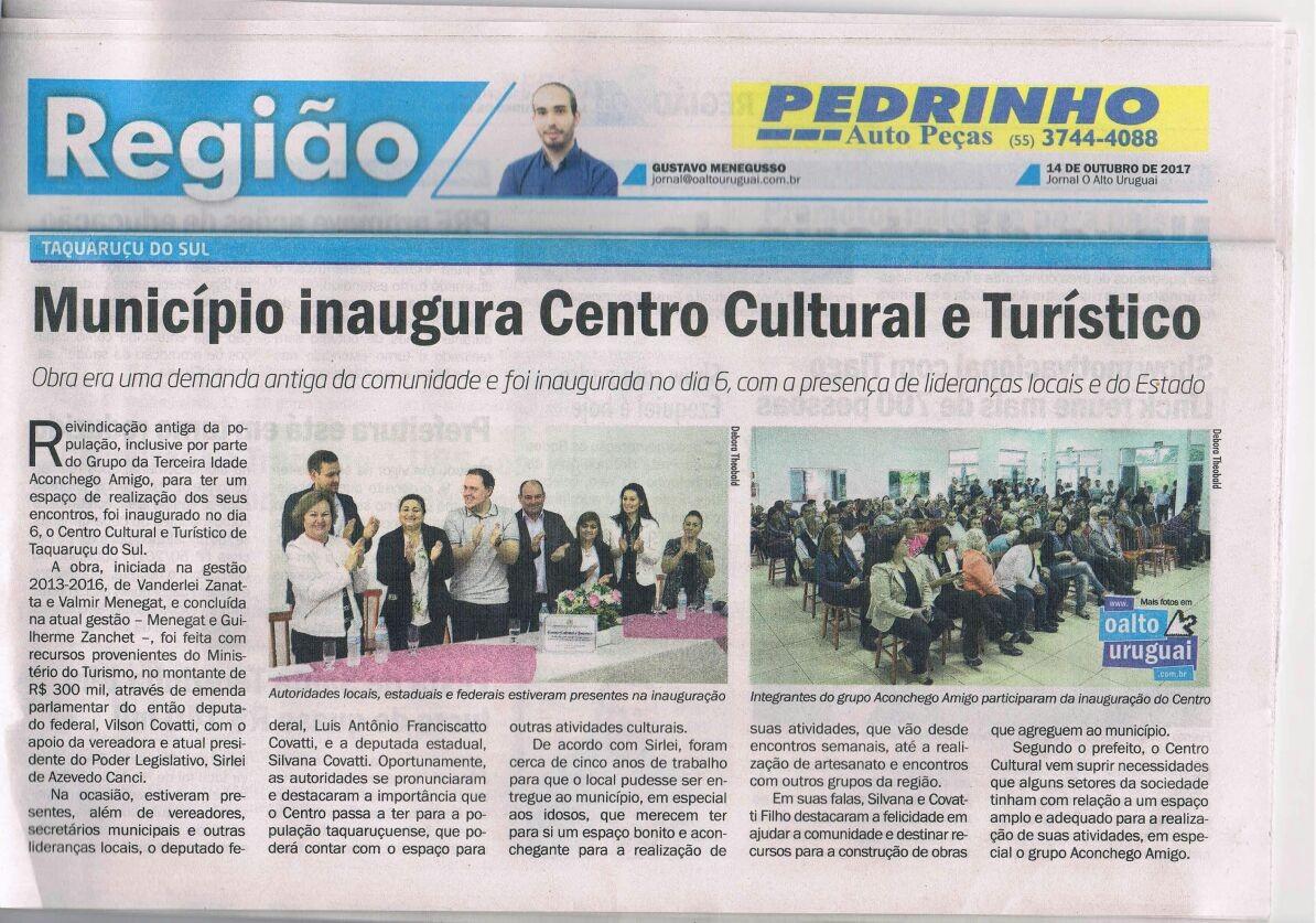 Município inaugura Centro Cultural e Turístico