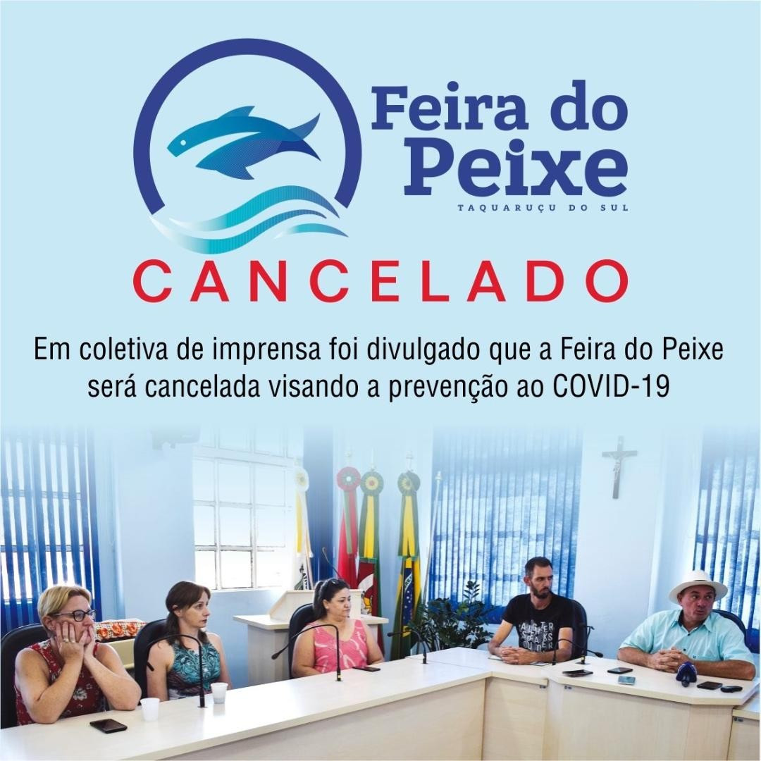 FEIRA DO PEIXE ESTÁ CANCELADA